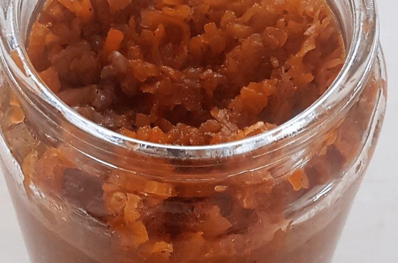 Carrot jam recipe Persian: Murabba e Zardak